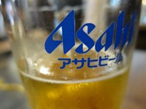 Asahi in a glass