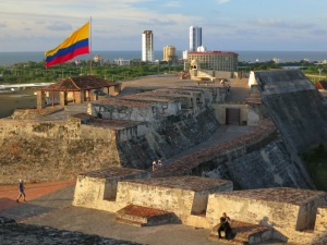 Spanish built fortification of Castillo San Felipe de Barajas