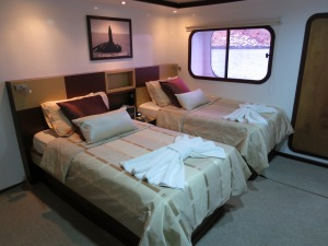 The amazing cabin on the MC Cormorant
