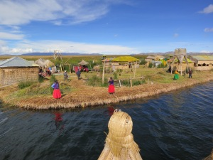 The islands of Uros on Lake Titicaca