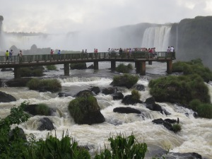 Falls from the Brazilian side