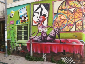 Colourful artwork in Valpo