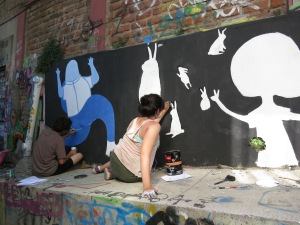 Local artists painting new artworks