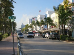 Miami Beach's Ocean Drive - not quite what S Club 7 let me to expect